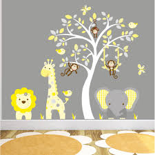wall art decals yellow and grey nursery previous
