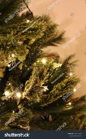 Christmas Branches With Lights Christmas Tree Branches Lights Close Stock Photo Edit Now
