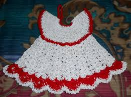 Free Crochet Potholder Patterns Interesting Vintage Style Dress And Bloomers PotholdersCrochet Pattern