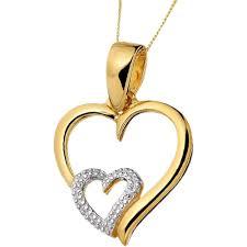 kaara gold diamond heart pendant pendants home18