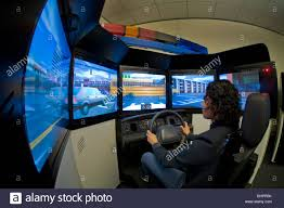 Police Officer Skills A Woman Police Officer Practices High Speed Driving Skills In A