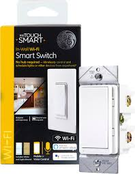 Walmart Wifi Light Switch Ge Mytouchsmart In Wall Wi Fi Smart Light Switch No Hub Required 40792 S1 Walmart Com