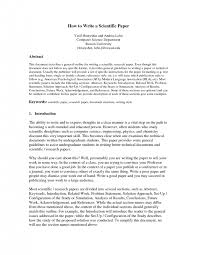 science essay format how to write a scientific research paper  essay science essay format