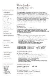 Resume For Pediatrician Paediatric Nurse Cv Template