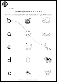 Free phonics worksheets from k5 learning; Beginning Sounds Worksheets And Activities