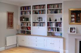 ... Large fitted alcove unit with drawers, cupboards and shelves ...