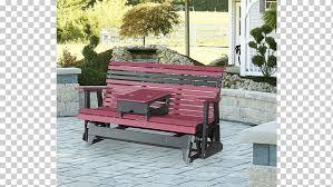 table glider plastic lumber wood garden