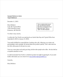 Example Of Reference Sample Professional Reference Letter 8 Free Documents In Pdf Doc