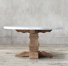salvaged wood dining table restoration hardware marble trestle round for home