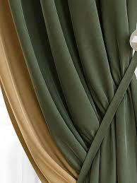 Купить <b>комплект штор</b> «<b>Твеон</b> (оливково-золотой)» зеленый ...