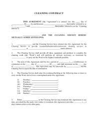 Contract For Janitorial Services Template Janitorial Services ...