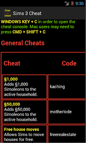 amazon com cheats hack for sims 3 appstore for android