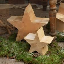 Deko Holz Stern Weihnachtsstern Natur Holzstern