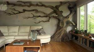 Tree Design Wallpaper Living Room