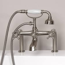 bathtub faucet with hand shower deck mounted