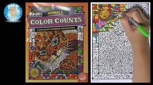 Mindware Color Counts Animals Color By Number Coloring Book