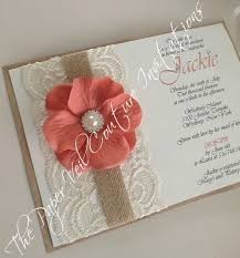 13 best invitations images on pinterest invitation cards Cheap Wedding Invitations Burlap And Lace rustic vintage lace garden invitation burlap, kraft ,cream and vintage coral bridal cheap wedding invitations burlap and lace