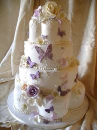 Wedding Cakes With Flowers And Butterflies