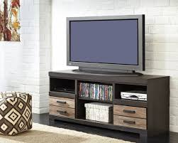 harlinton contemporary two tone wood lg tv stand w o fireplace