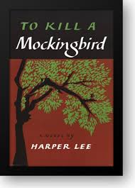 clic book covers to kill a mockingbird 28x40 framed art print