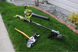 ryobi weed eater battery powered. photo 1 - trimmer and edger attachment, 40v blower was used for cleanup when the ryobi weed eater battery powered