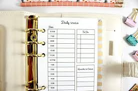 Day Planner Hourly Amazon Com Personal Size Hourly Planner Insert Filofax Personal
