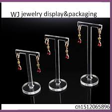 Earring Display Stands Wholesale Set of 100 Clear Acrylic T Shape Jewellery Earrings Display Holder 48
