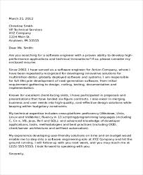 Sample Cover Letter Software Engineer Cover Letter Sample          word templates cover letter