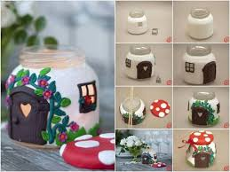 Cute Jar Decorating Ideas DIY Jar Mushroom House Find Fun Art Projects to Do at Home and 52