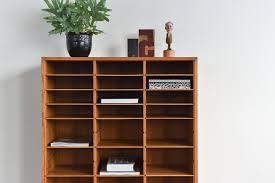 vintage wooden danish pigeon hole shelves stationary cabinet by vamo sonderborg vinterior