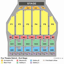 detroit opera house seating chart with seat numbers awesome fox theatre seating chart st louis