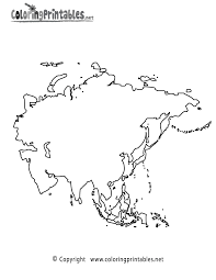 Small Picture Asia Map Coloring Page A Free Travel Coloring Printable