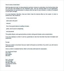 a formel letter correct format for a formal letter images letter format formal sample