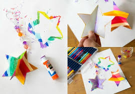 how to assemble 3d paper star ornaments