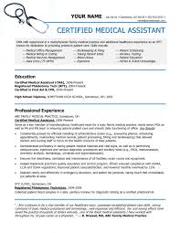 Example Of Medical Assistant Resume Fascinating Medical Assistant Resume Objective Examples Medical Assistant Resume