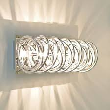 curled wall light modern chrome design