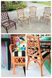 painting outdoor wood furniture bamboo rattan chair makeovers rattan chair makeover refinish outdoor wood chairs