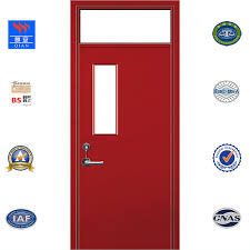 120 minutes fire rated galvanized steel door with fireproof glass