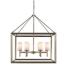 golden lighting chandelier. Golden Lighting 2073-6 WG Smyth - Six Light Chandelier, White Gold Finish With Opal Glass Amazon.com Chandelier T