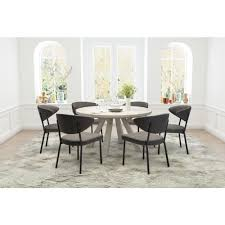 zuo pontus charcoal gray dining chair set of 2