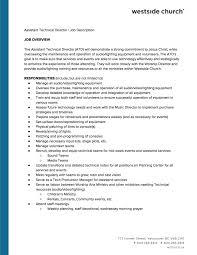 director job description assistant technical director job description