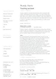 Sample Teacher Assistant Resume Assistant Teacher Resume Examples Sample Teaching Resume Sample