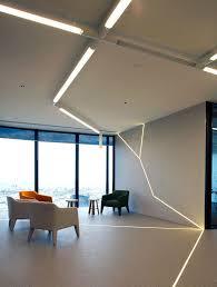 lighting design office. geometric angular linear lighting design simple and minimal office