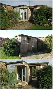 House Made From Pallets Garden Room Made Out Of 50 Repurposed Pallets O Pallet Ideas