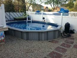 Semi Inground Pool Ideas Above Ground Swimming Pool Ideas Semi Pool
