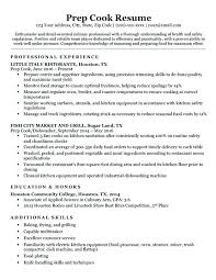 Chief Cook Resume Resume Sample For Cook Prep Cook Resume Sample