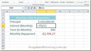 Debt Calculator Excel Calculate Loan Repayments In Excel Using The Pmt Function