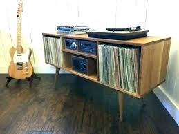 mid century stereo cabinet plans for modern record player console vintage mid century modern stereo rack