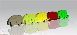 linking elephant letters 3d print 69000