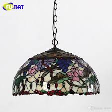 fumat tiffany stained glass pendant lamp european style glass art lights living room dining room classic lamp tiffany dragonfly rose tiffany pendant lamp